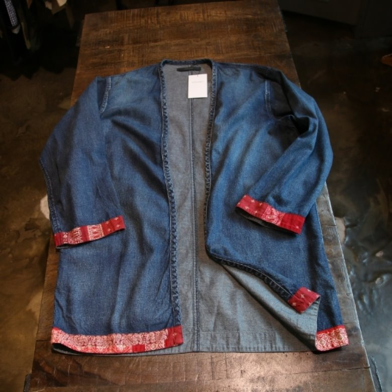 sophnet denim long shirt cardigan