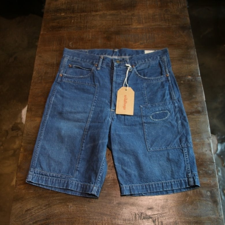 orslow x beams denim shorts