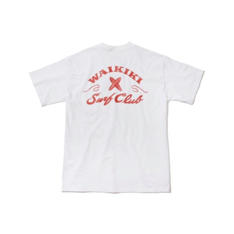wildhogs waikiki surf club tee (white)