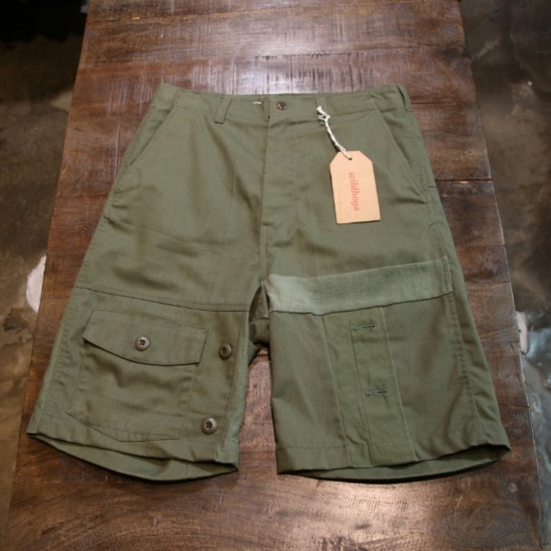 rebuild by needles military shorts