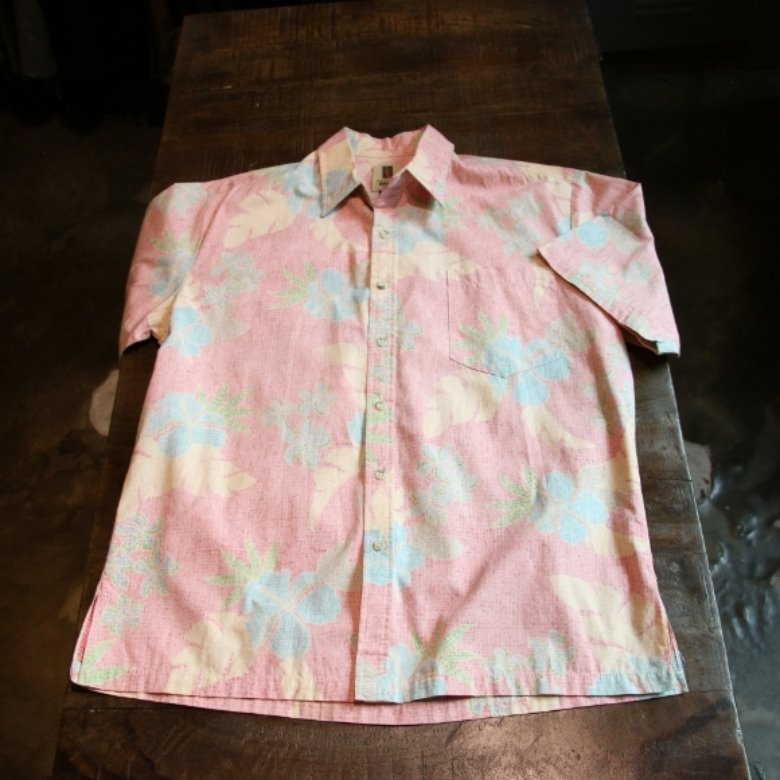 tory richard pink leaf shirt