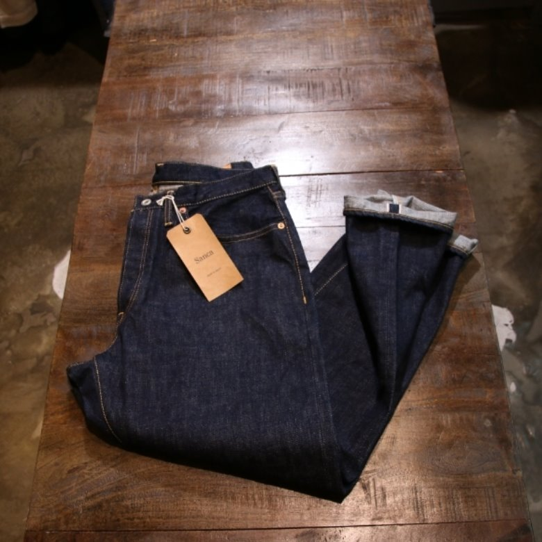 sanca denim tapered 5p pants