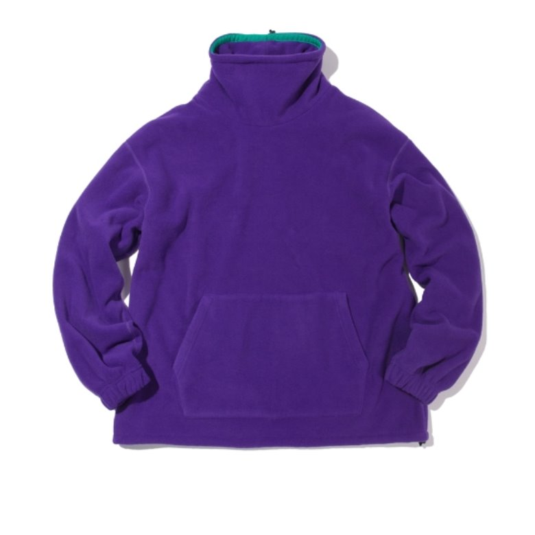 wildhogs mock neck fleece (purple)