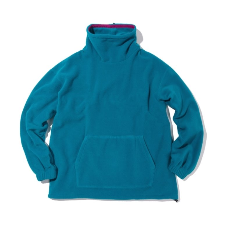 wildhogs mock neck fleece (blue green)
