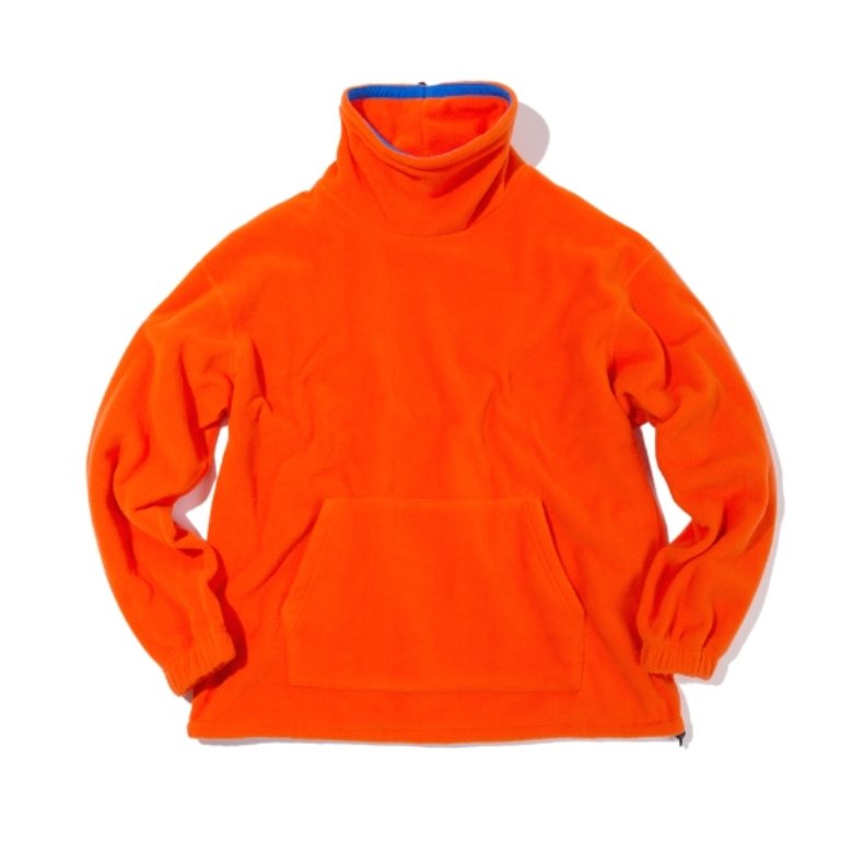 wildhogs mock neck fleece (orange)
