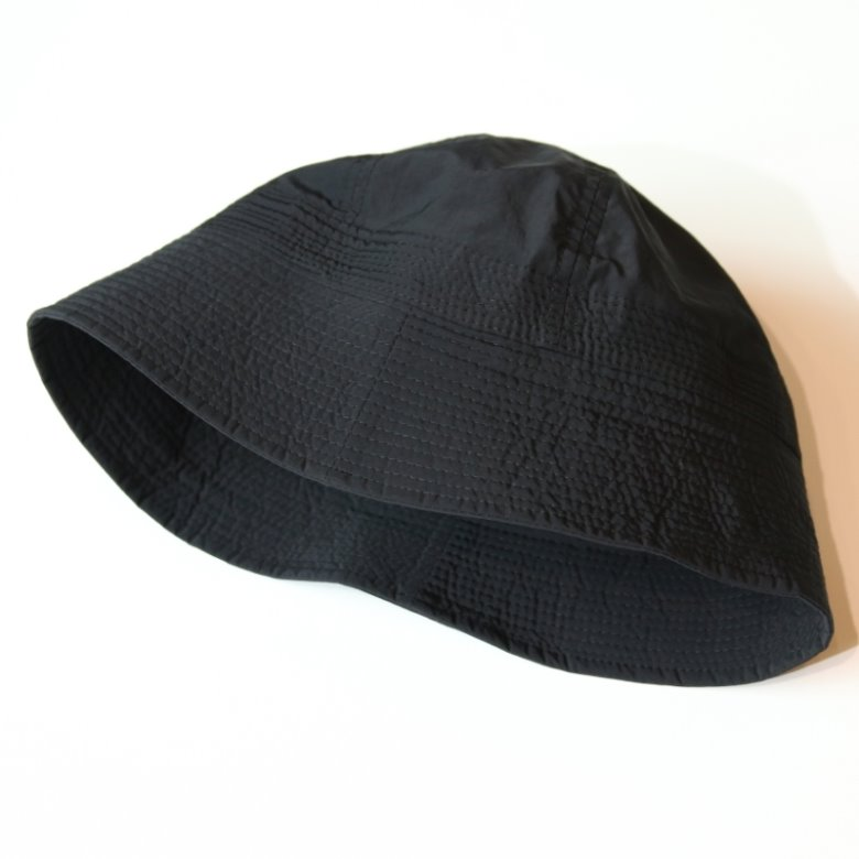wildhogs nylon sailor bucket hat (BLACK)