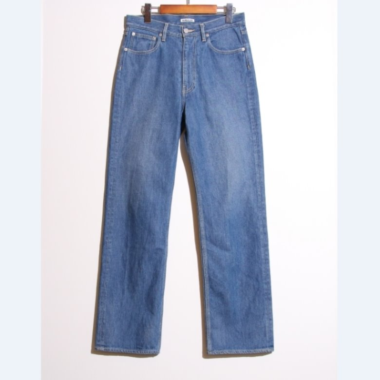auralee WASHED HARD TWIST DENIM 5P PANTS (27)