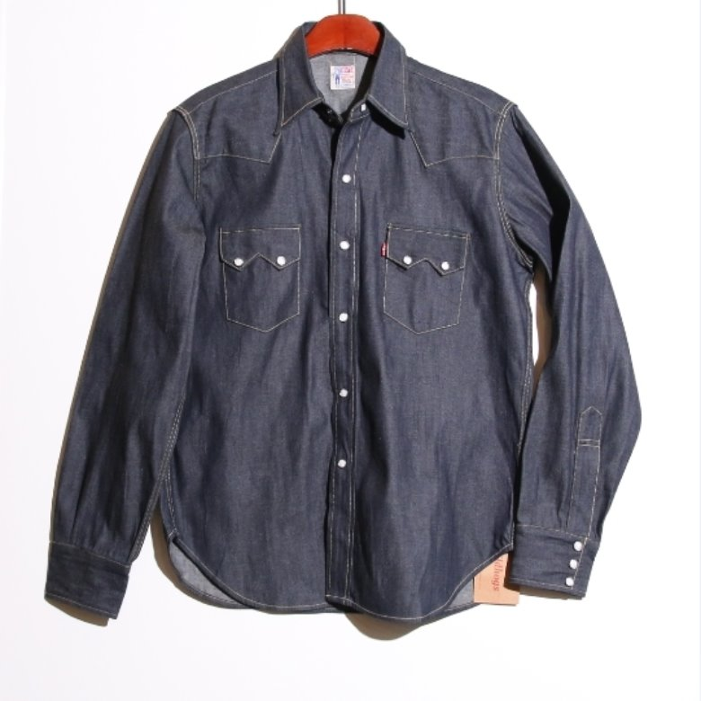 levis lvc 1955 sawtooth denim shirt