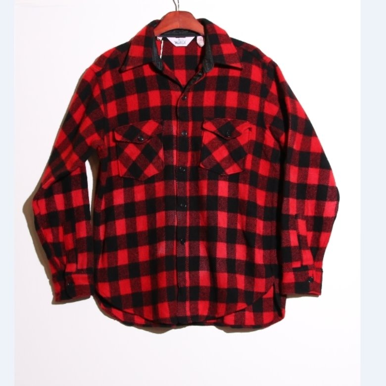 60s vintage woolrich wool shirt (L)
