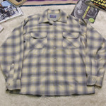 60's PENDLETON shadow plaid wool shirt