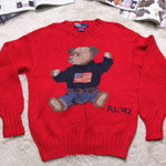 vintage polo '92 bear knit