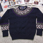 POLO pattern  hand knit