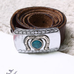 navajo stone leather belt