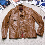 50~60'S brooks leather jacket