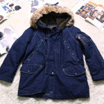 BEAMS denim N-3B parka