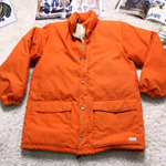 sugar cane orange down parka