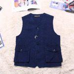 rugged factory indigo vest