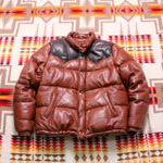 freedom leather down jacket