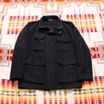 A.P.C. black wool coat