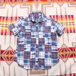 ray beams patchwork 1/2 shirts