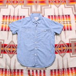 avirex chambray 1/2 shirts