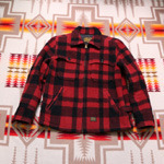 cootie wool check jacket