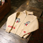 vintage cowichan sweater zip-up