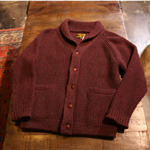 cootie shawl collar cardigan