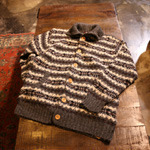 woolrich fair isle wool cardigan