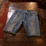 kuro selvedge denim shorts