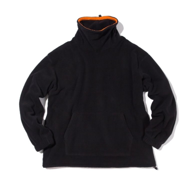 wildhogs mock neck fleece (black)