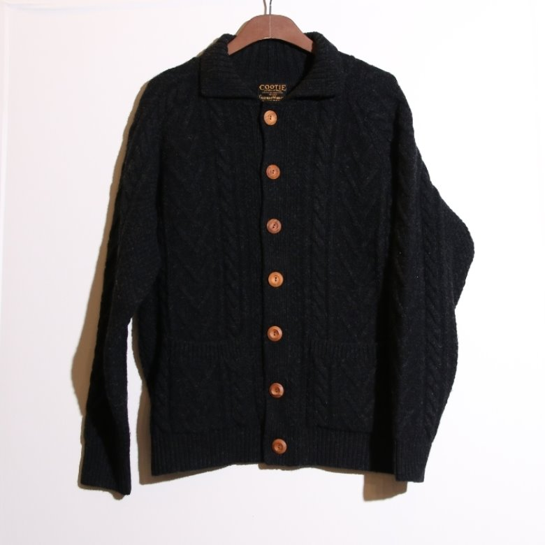 cootie wool cable cardigan (XL)