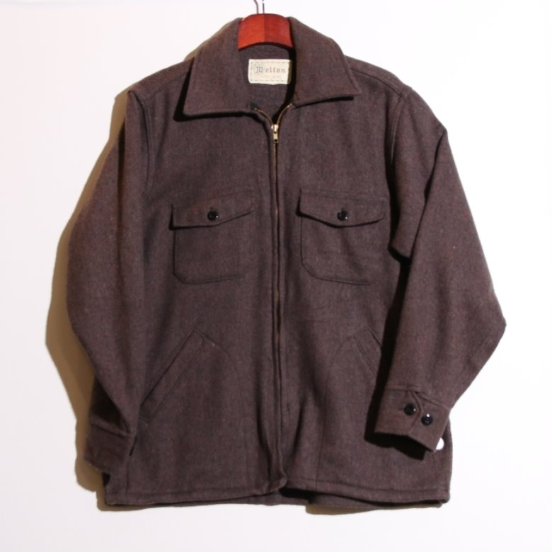 melton wool mackinaw jacket